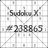 Sudoku X №238865