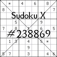 Sudoku X №238869