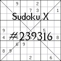 Sudoku X №239316