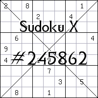 Sudoku X №245862