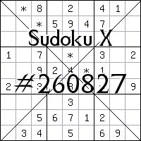 Sudoku X №260827