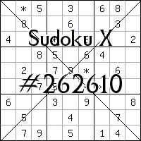 Sudoku X №262610