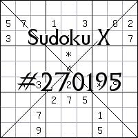 Sudoku X №270195