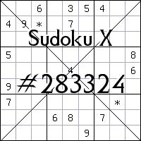 Sudoku X №283324