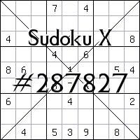 Sudoku X №287827
