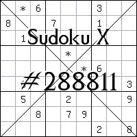 Sudoku X №288811