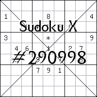 Sudoku X №290998