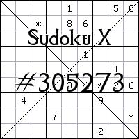 Sudoku X №305273