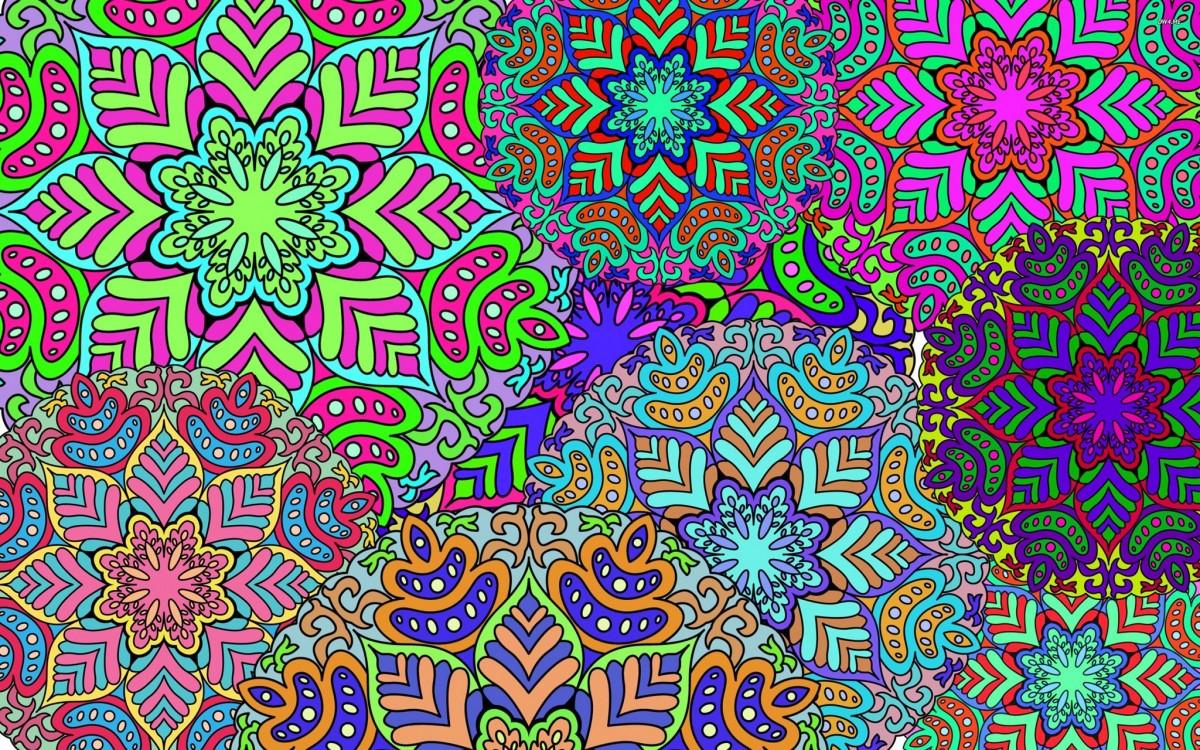 Rompecabezas Recoger rompecabezas en línea - Abstract snowflakes