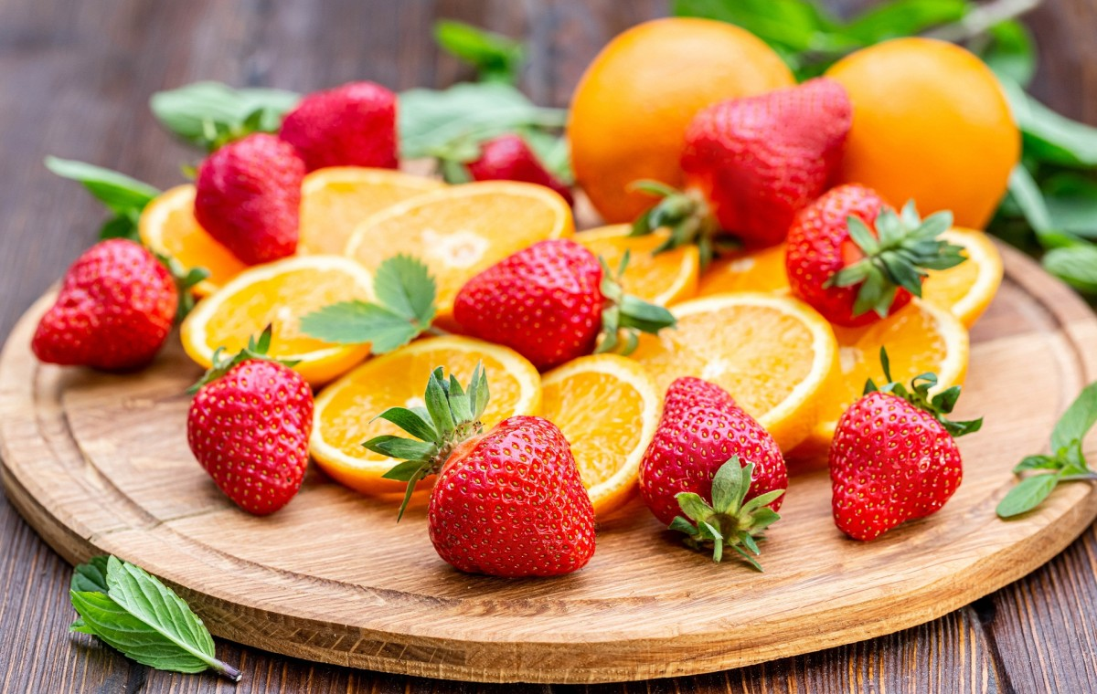 Rompecabezas Recoger rompecabezas en línea - Orange and strawberry