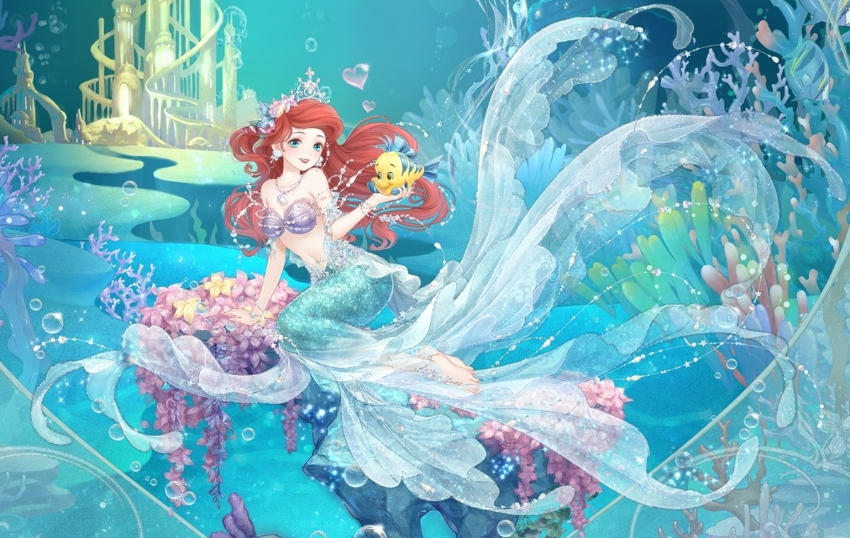 Rompecabezas Recoger rompecabezas en línea - Ariel anime style