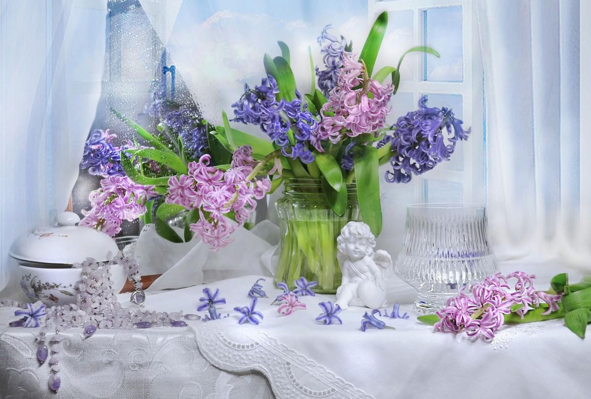 Rompecabezas Recoger rompecabezas en línea - Bouquet and figurine