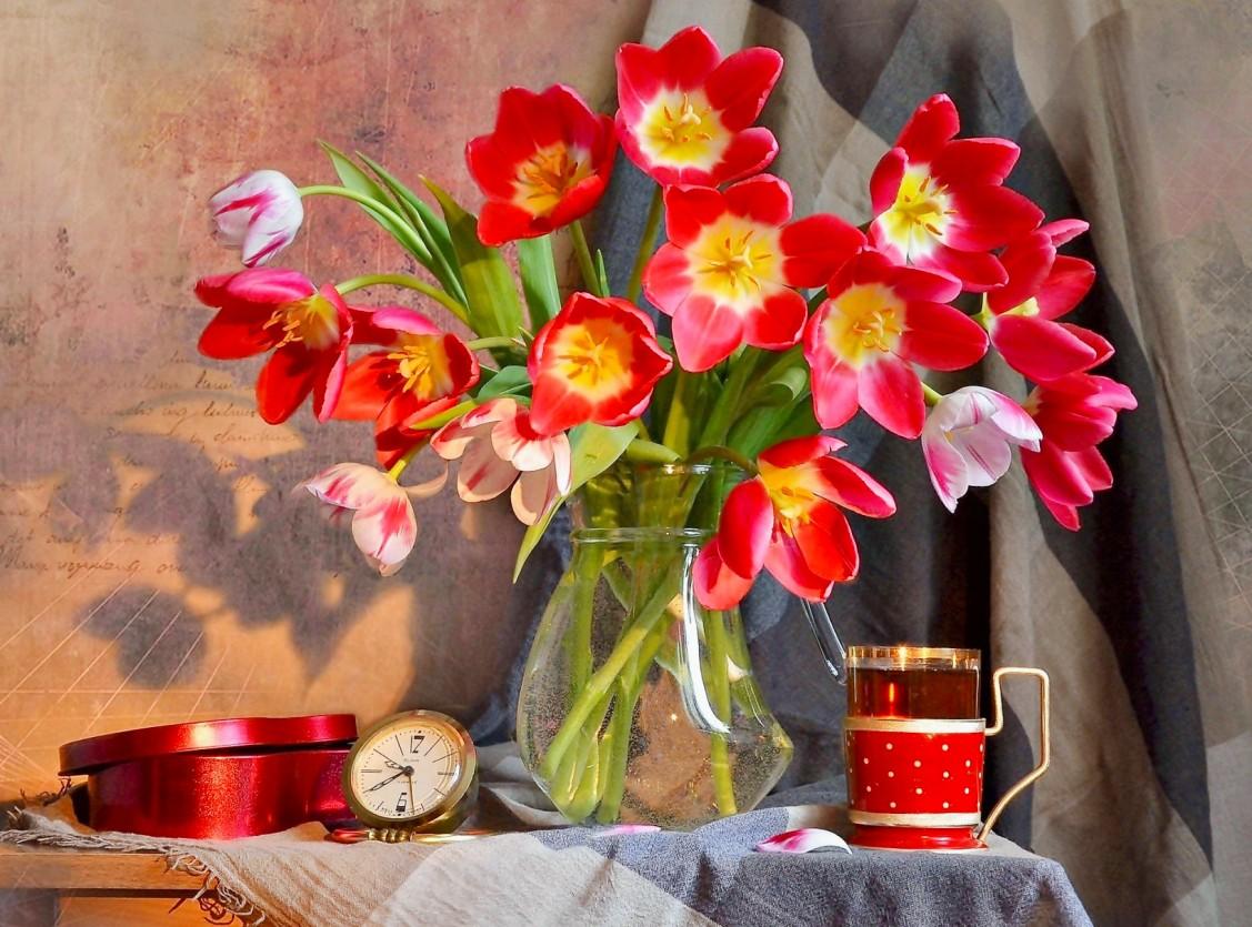 Rompecabezas Recoger rompecabezas en línea - A bouquet of tulips