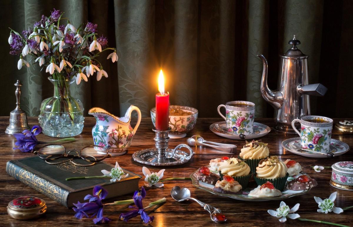 Rompecabezas Recoger rompecabezas en línea - Tea party with a candle