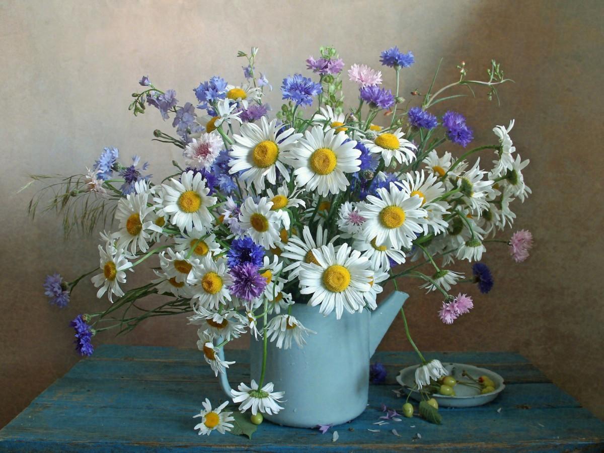 Rompecabezas Recoger rompecabezas en línea - Kettle with flowers