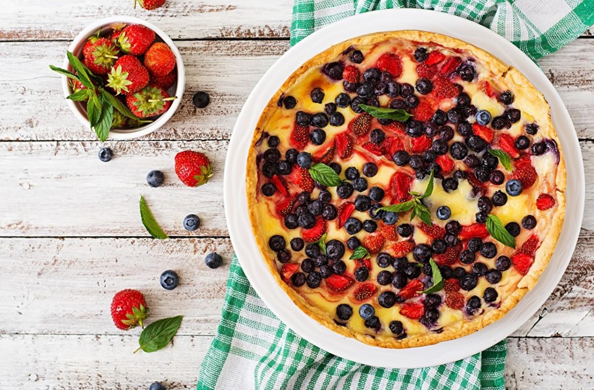 Rompecabezas Recoger rompecabezas en línea - Cheesecake and strawberries