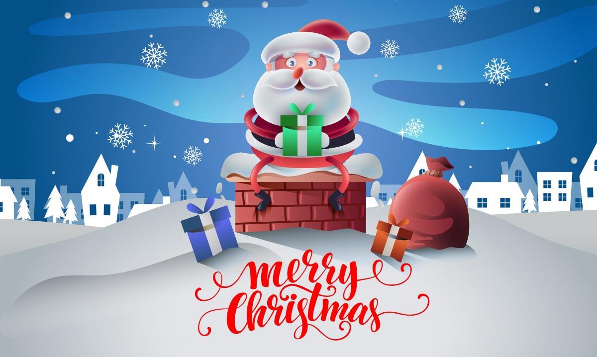 Rompecabezas Recoger rompecabezas en línea - Santa with gifts