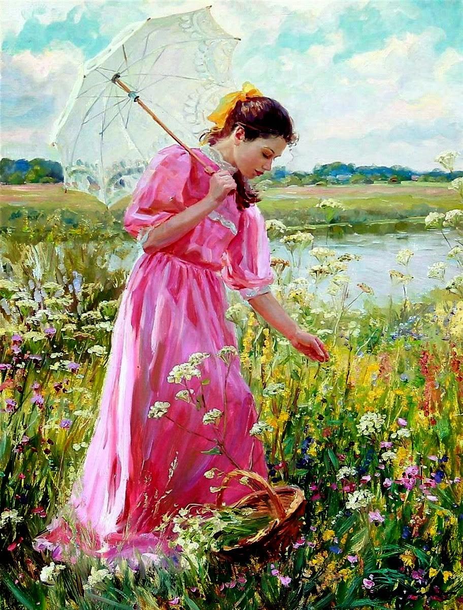 Rompecabezas Recoger rompecabezas en línea - The girl in the meadow