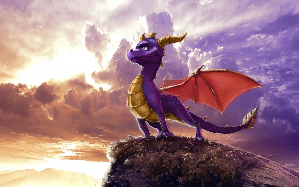 Rompecabezas Recoger rompecabezas en línea - Dragon on a rock