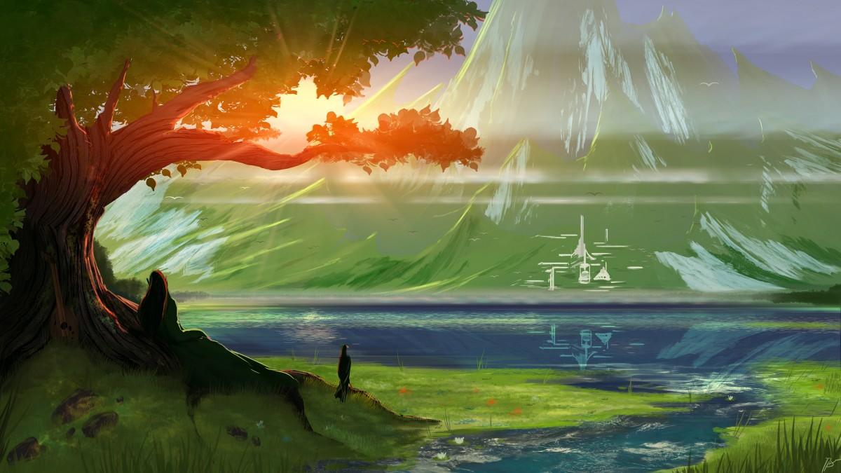 Rompecabezas Recoger rompecabezas en línea - The elven city