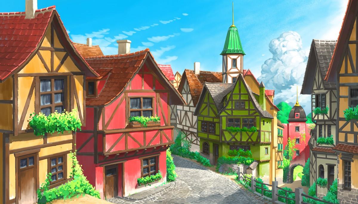 Rompecabezas European town