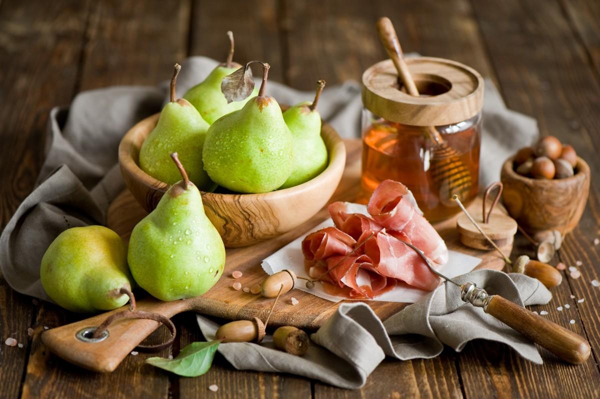 Rompecabezas Recoger rompecabezas en línea - Pear and ham