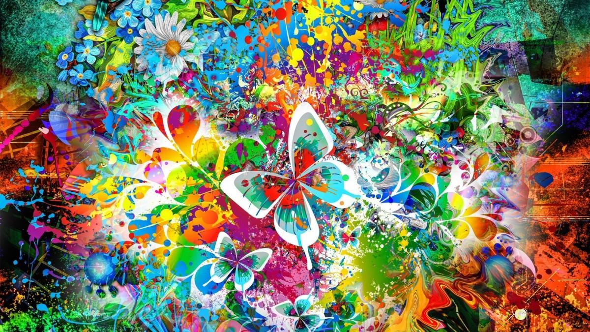 Rompecabezas Recoger rompecabezas en línea - Play of colours and flowers