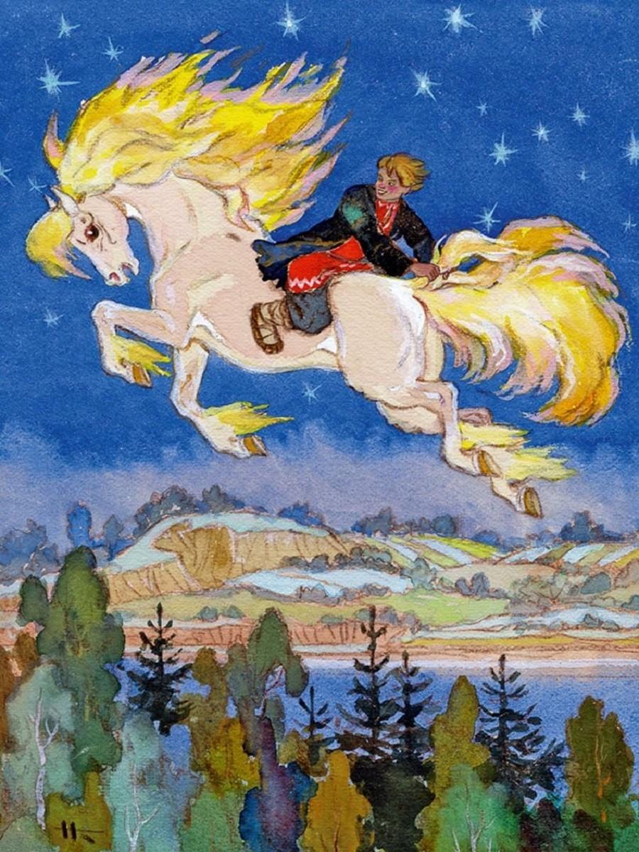 Rompecabezas Recoger rompecabezas en línea - The little humpbacked horse