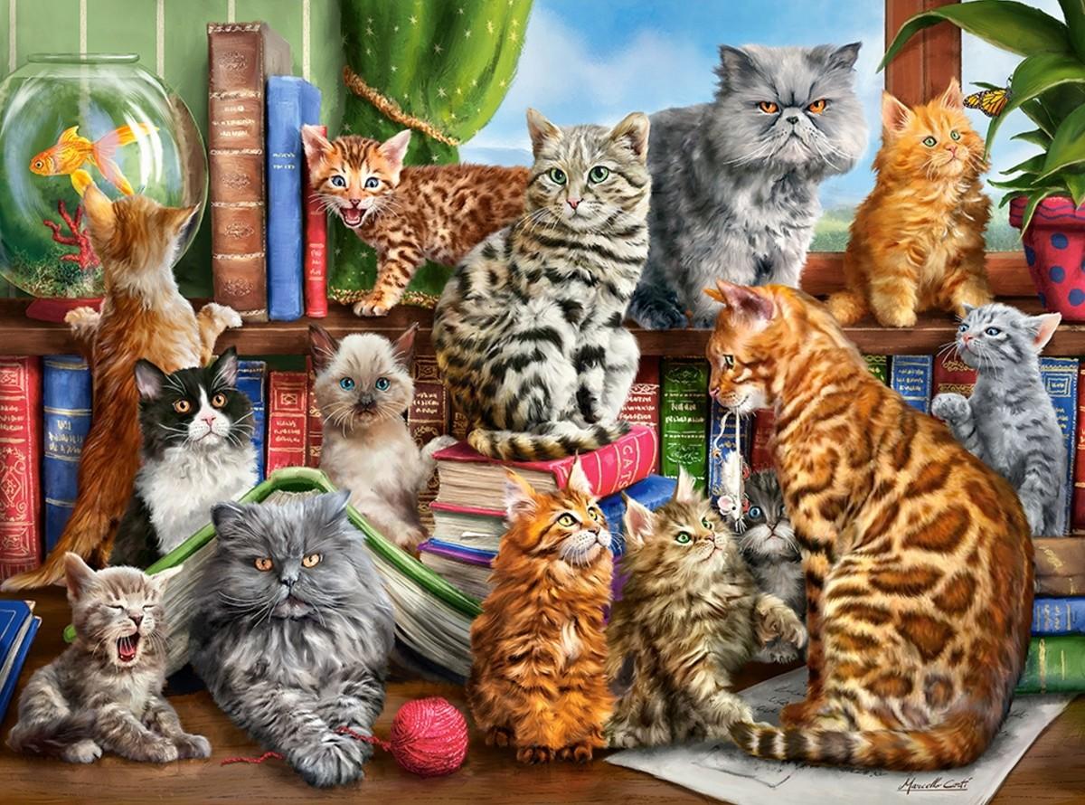 Rompecabezas Recoger rompecabezas en línea - Cat club