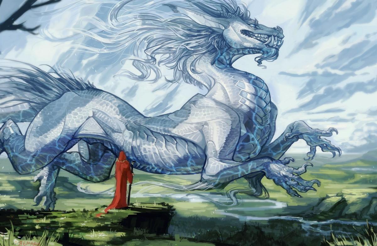 Rompecabezas Recoger rompecabezas en línea - The magician and the dragon
