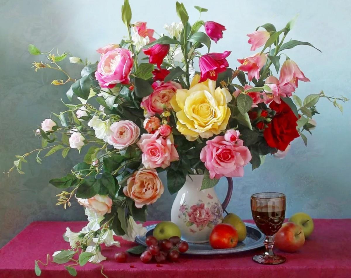 Rompecabezas Recoger rompecabezas en línea - Still life with flowers