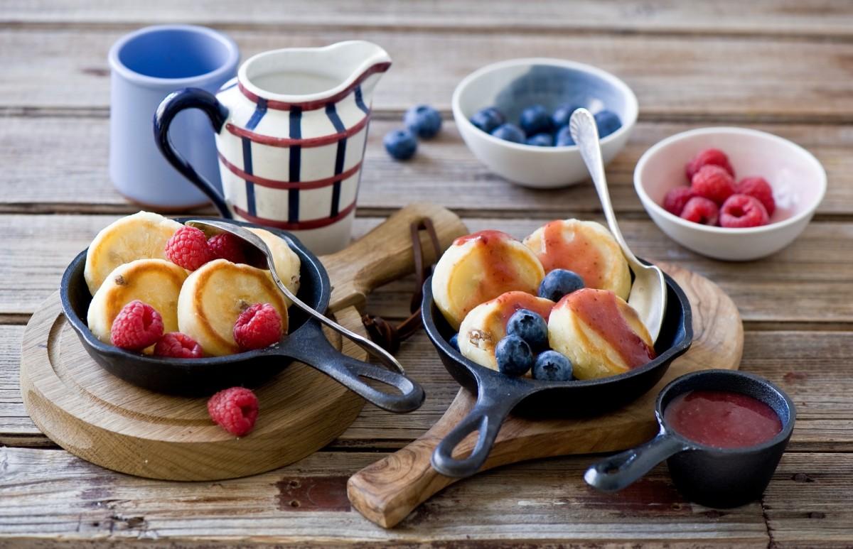 Rompecabezas Recoger rompecabezas en línea - Pancakes with berries