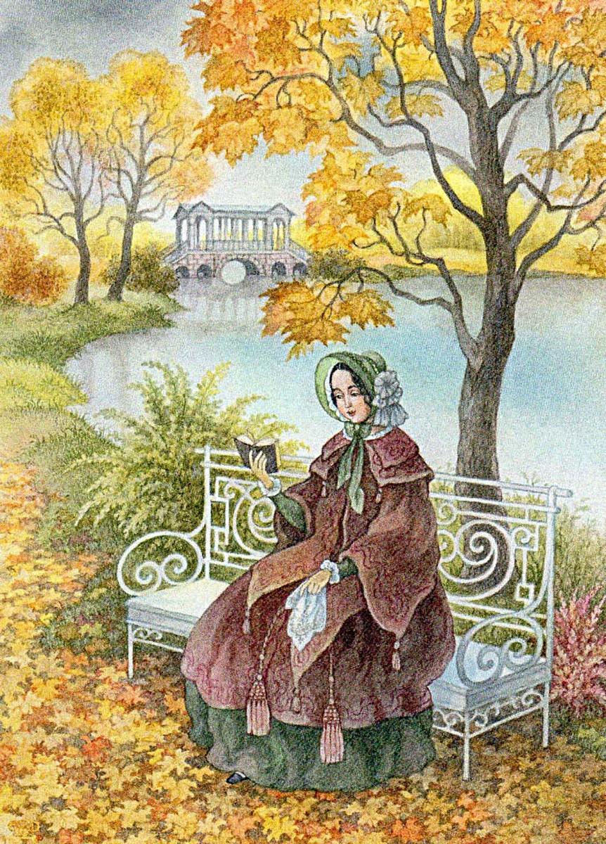 Rompecabezas Autumn garden