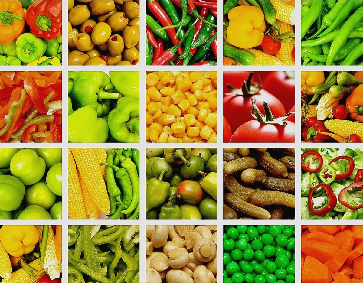 Rompecabezas Recoger rompecabezas en línea - Vegetable collage