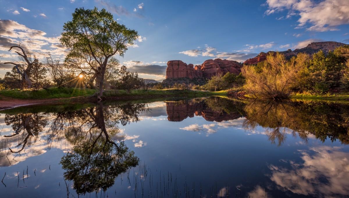 Rompecabezas Recoger rompecabezas en línea - Lake in Arizona