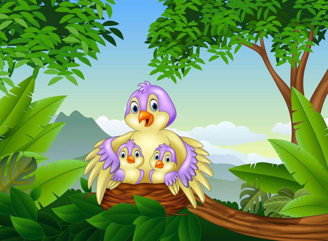 Rompecabezas Recoger rompecabezas en línea - Birds in a nest