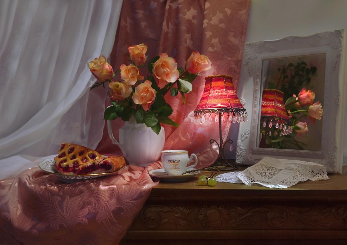 Rompecabezas Recoger rompecabezas en línea - Rose and lamp