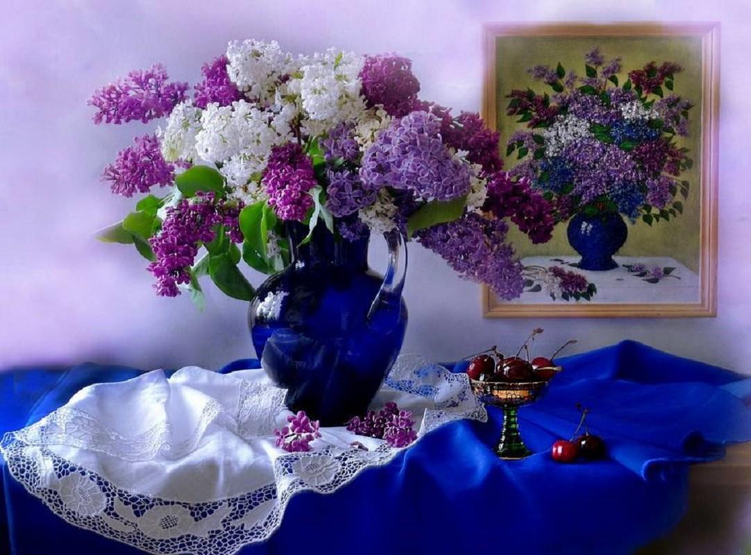 Rompecabezas Recoger rompecabezas en línea - Lilacs in a jar