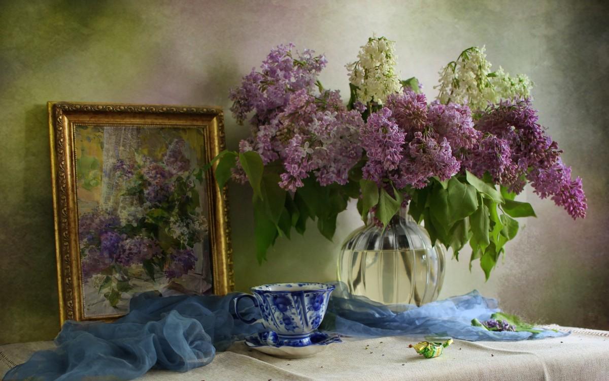 Rompecabezas Recoger rompecabezas en línea - Lilac still life