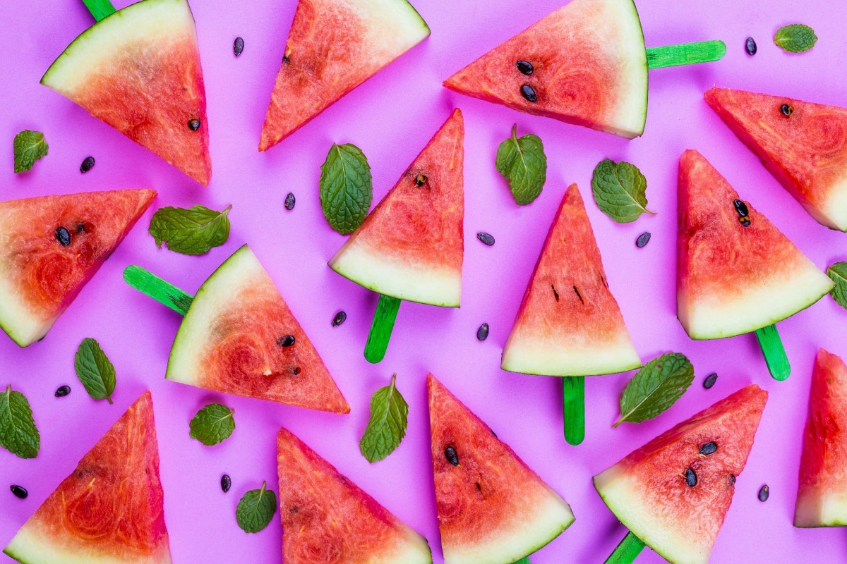 Rompecabezas Recoger rompecabezas en línea - Triangles of watermelon