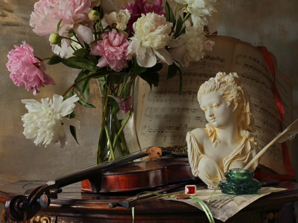 Rompecabezas Recoger rompecabezas en línea - Flowers music