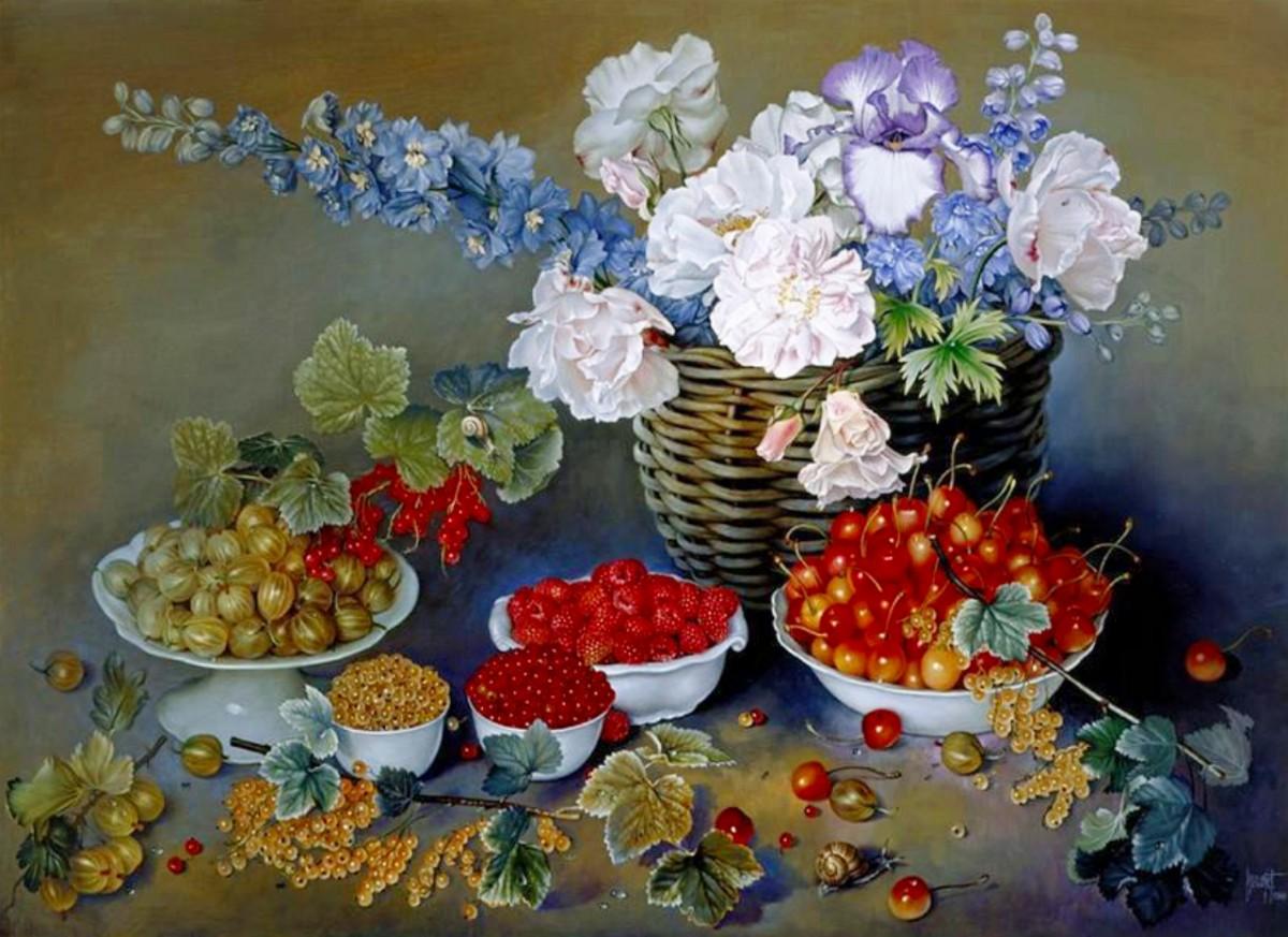 Rompecabezas Recoger rompecabezas en línea - Flowers and berries