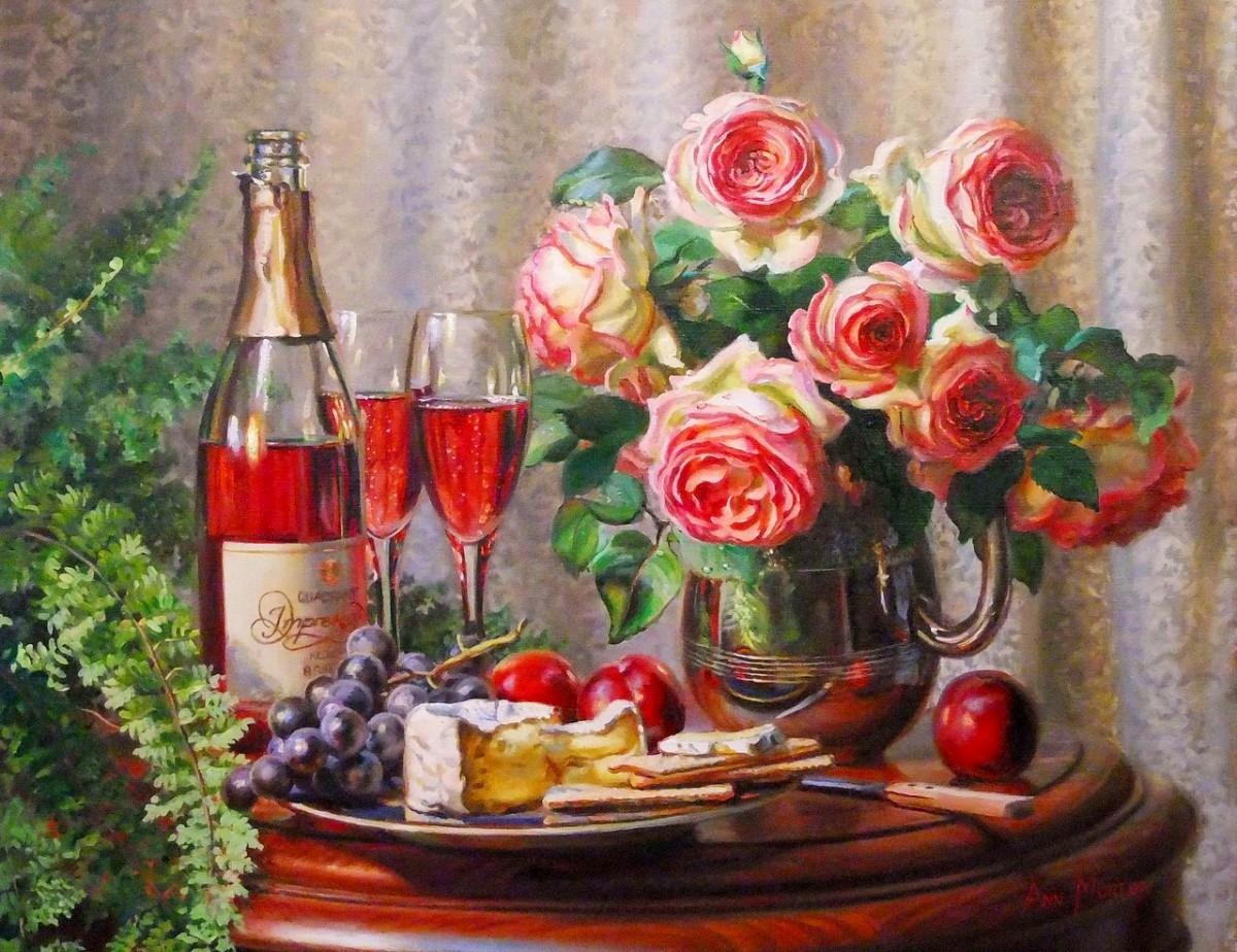 Rompecabezas Recoger rompecabezas en línea - Wine and roses