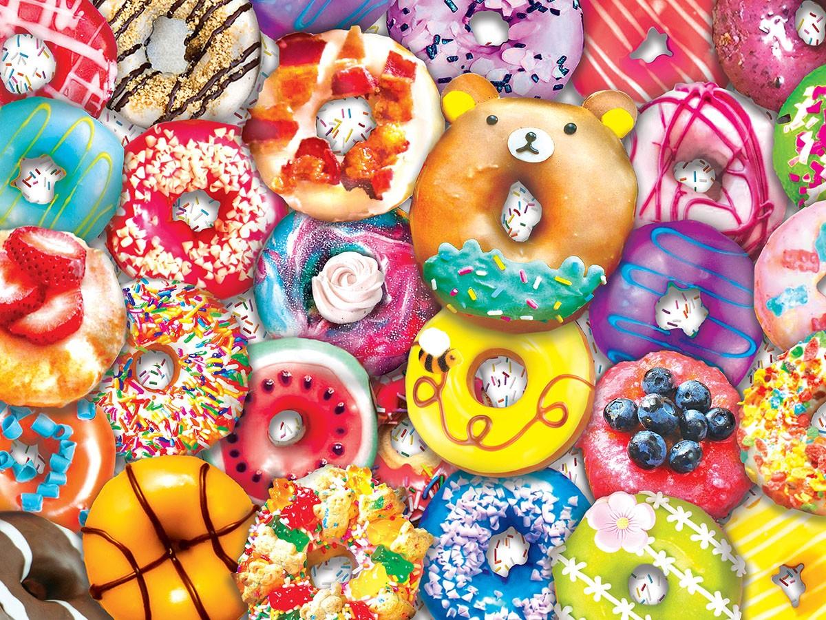 Rompecabezas Recoger rompecabezas en línea - Tasty donuts.