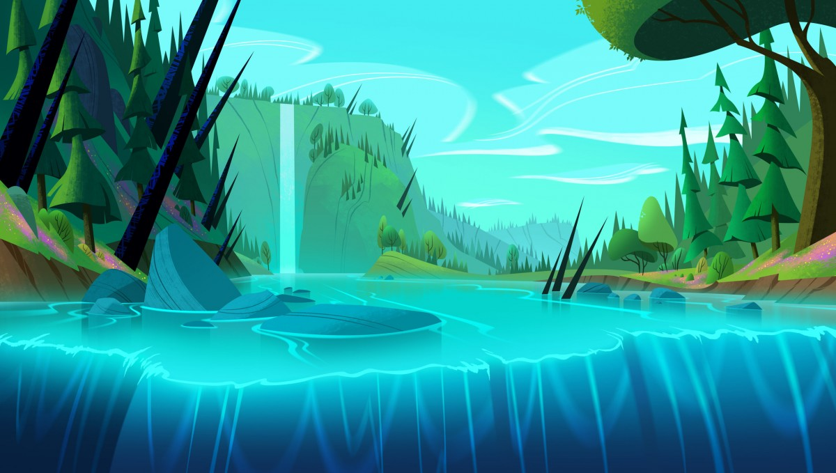 Rompecabezas Recoger rompecabezas en línea - Waterfall