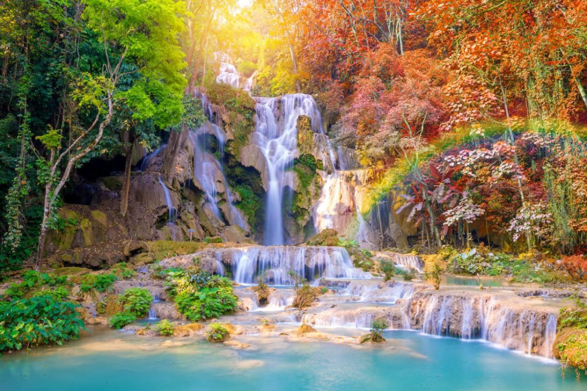 Rompecabezas Recoger rompecabezas en línea - Waterfall in the tropics