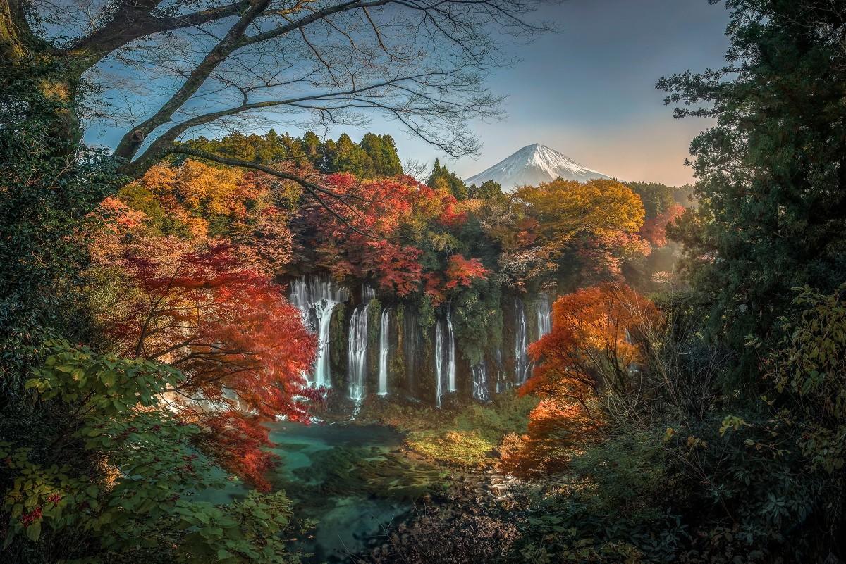 Rompecabezas Waterfall in Japan