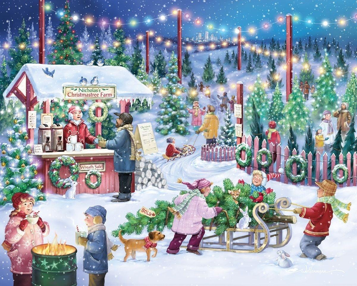 Rompecabezas Recoger rompecabezas en línea - Christmas Bazaar