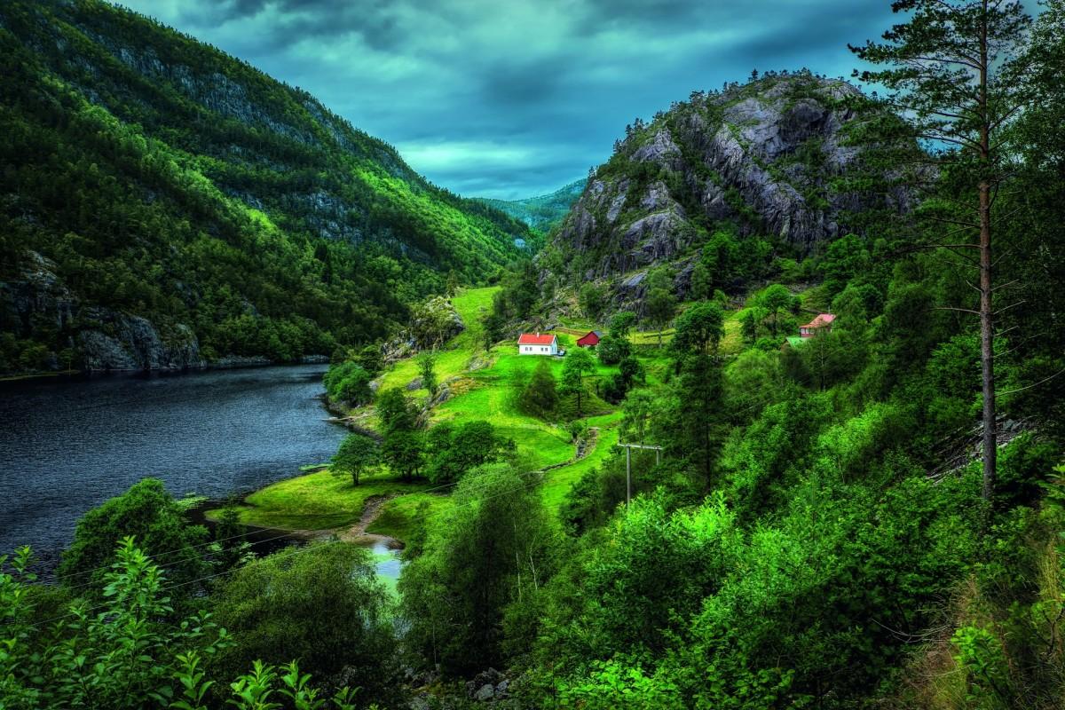 Rompecabezas Recoger rompecabezas en línea - Green Norway