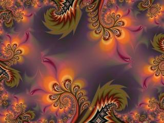 Собирать пазл Abstract feathers онлайн